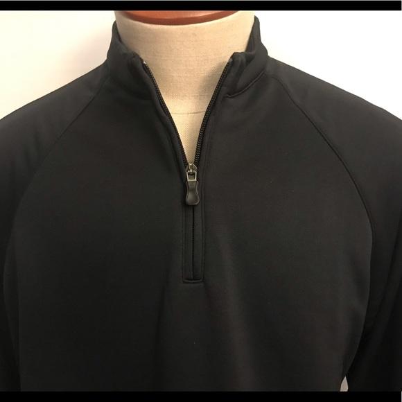 e2b691dbd ADIDAS Golf Jacket Climalite Mens M 1/4 zip black